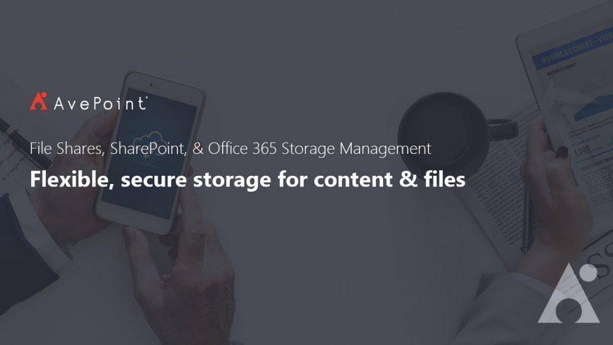 Storage Optimization & Management   AvePoint