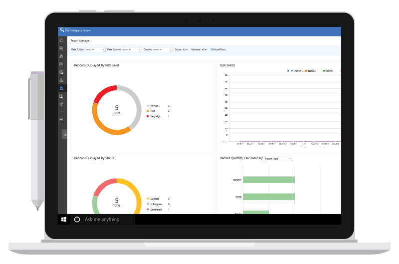 Enterprise Risk Management dashboard for SharePoint, Office 365, and more!