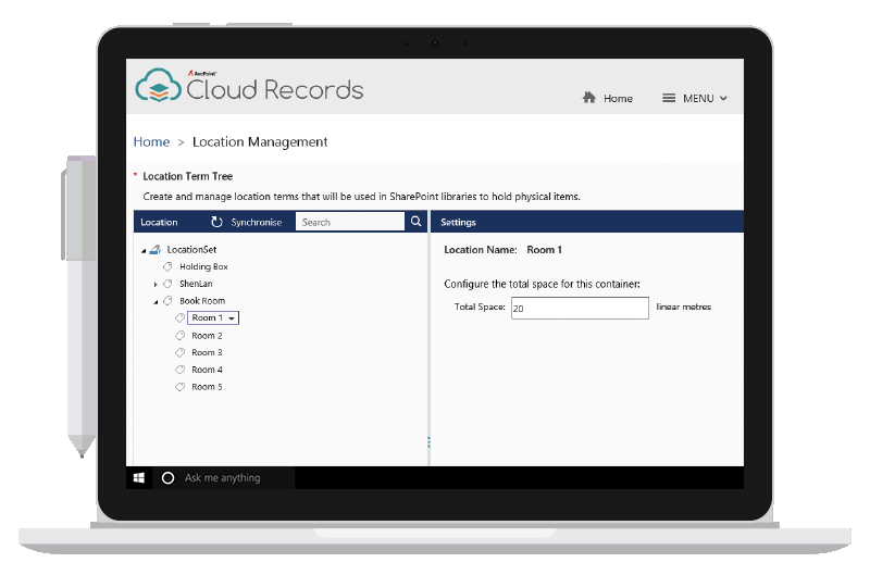 Records & Information Management Interface for Office 365 and SharePoint