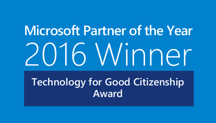 Microsoft Partner of the Year 2016 Winner