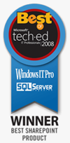 DocAve Software Platform Named 'Best of Tech Ed 2008 IT Pros Award' Winner