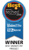 AvePoint Wins Best of TechEd 2008 IT Pros Award