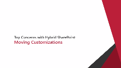 Moving Customizations