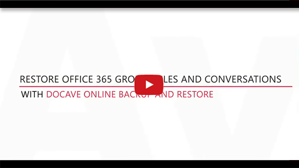 Office 365 Groups Backup Connect Trial