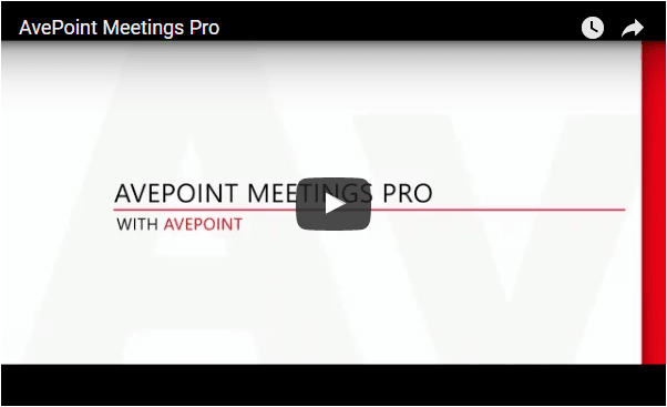 AvePoint Meetings Pro