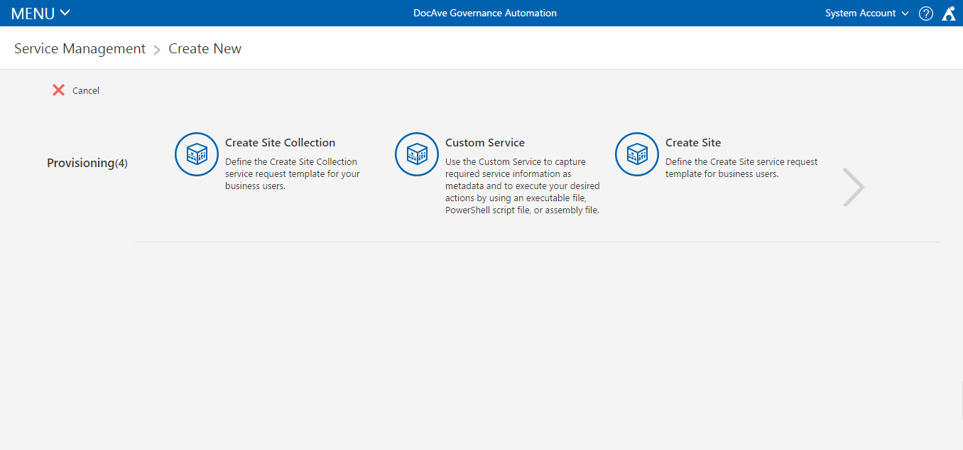 SharePoint and Office 365 Provisioning with DocAve Governance ...